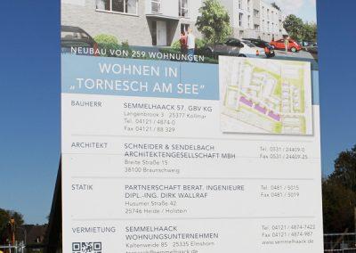Bauschild für Unternehmen Semmelhaack.