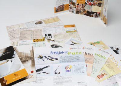 Imageflyer und Produktkarten Fa. Becking Kaffee, Hamburg.