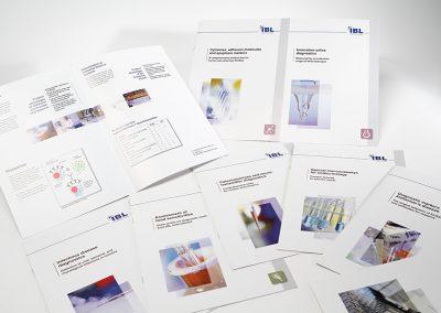 Erstellung diverser Werbeprospekte für medizinische Spezialpräparate der Fa. IBL International, Hamburg.