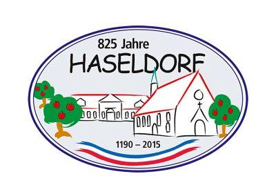 Logorstellung für Ortsschild in Haseldorf
