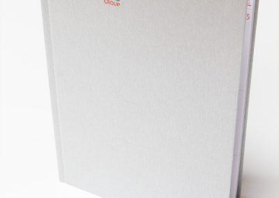 Notizbuch als Werbemittel für einen Hersteller von Cash-Terminals.
